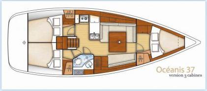 Yacht Oceanis 37 in Marina Mandalina chartern-71668-0