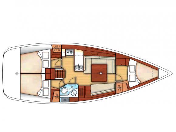 Segelboot Oceanis 37 chartern in Portisco-28359-0