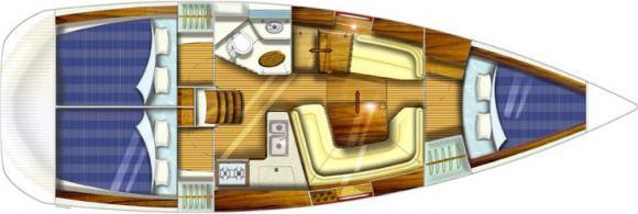 Sail boat Sun Odyssey 35 for rent in Pirgos Sani-28147-0