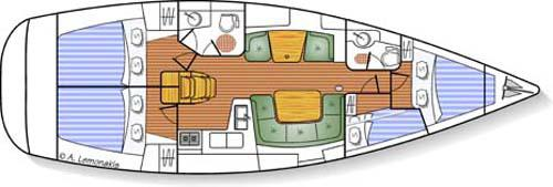 Yacht Sun Odyssey 43 in Ermoupoli chartern-71336-0