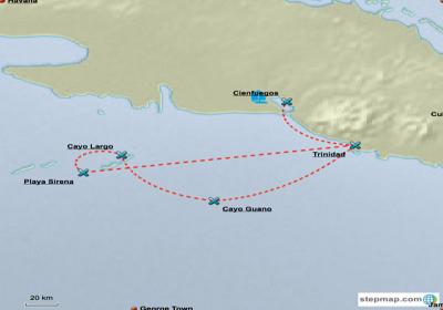 Sailing Itineraries Cuba - 7 Day Trip Cienfuegos to Cayo Largo | YACHTICO.com
