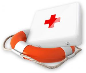 life belt and first aid kit